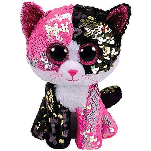 TY Flippables Malibu Cat Medium Size Sequins Soft Toy