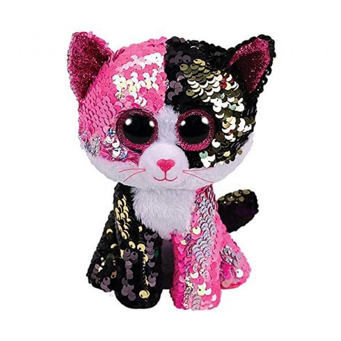 TY Flippables Malibu Cat Regular Size Sequins Soft Toy