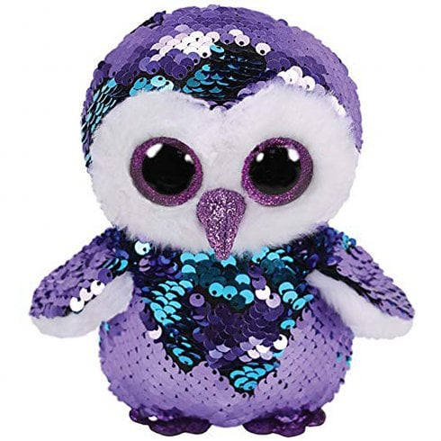 TY Flippables Moonlight Owl Medium Size Sequins Soft Toy