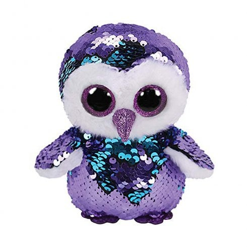 TY Flippables Moonlight Owl Regular Size Sequins Soft Toy