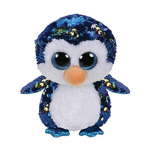 TY Flippables Payton Penguin Regular Size Sequins Soft Toy
