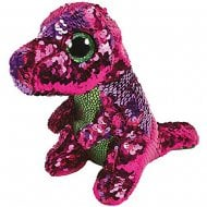 Flippables Stompy Dinosaur Medium Size Sequins Soft Toy