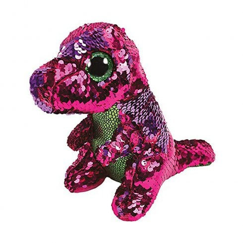 TY Flippables Stompy Dinosaur Regular Size Sequins Soft Toy