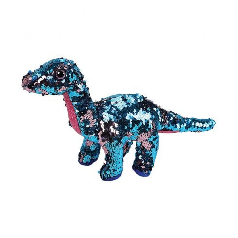 TY Flippables Tremor Dinosaur Regular Size Sequins Soft Toy