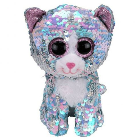 TY Flippables Whimsy Blue Cat Large
