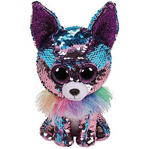 TY Flippables Yappy Chihuahua Medium Size Sequins Soft Toy