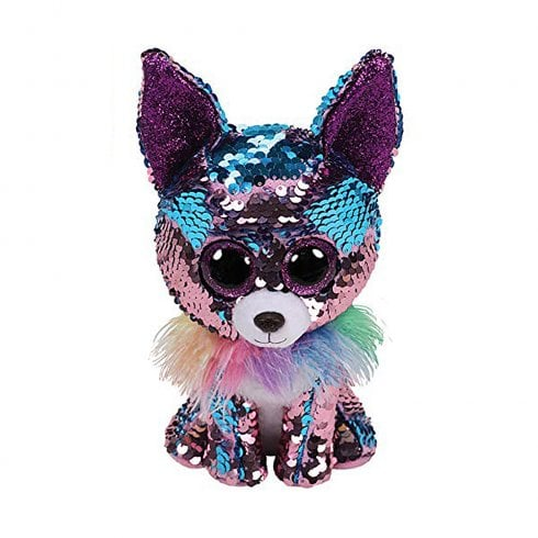 TY Flippables Yappy Chihuahua Regular Size Sequins Soft Toy