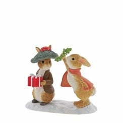 Flopsy & Benjamin Under The Mistletoe Figurine