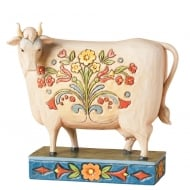 Folk Cow Figurine