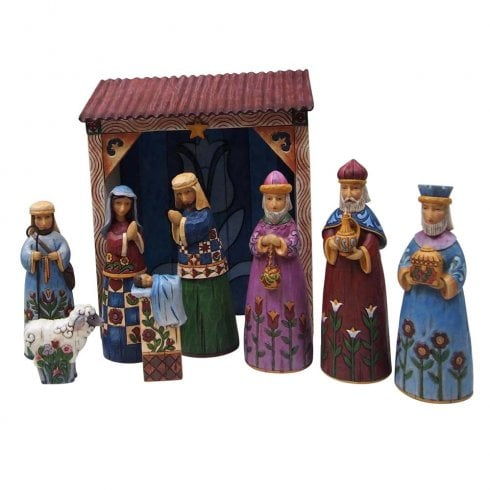 Jim Shore Heartwood Creek Folklore Nativity Nine Piece Set