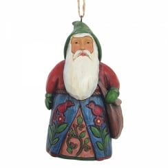 Folklore Santa With Bag Hanging Ornament