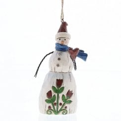 Folklore Snowman With Heart Hanging Ornament