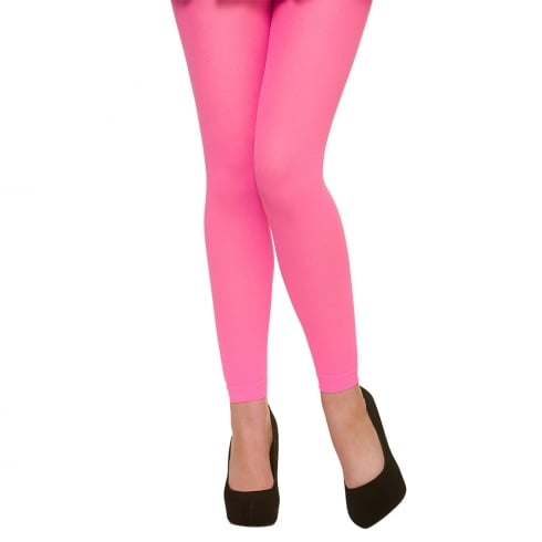 Wicked Costumes Footless Tights -Neon Pink