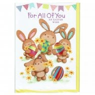 For All Of You An Easter Wish Children Kids Greeting Card