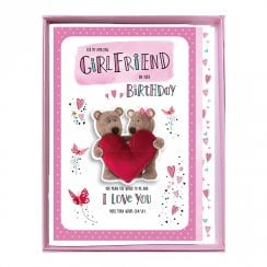 For My Amazing Girlfriend On Your Birthday Boxed Large Bears With Heart Card