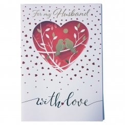 For My Husband With Love Valentines Card DV326