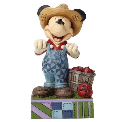 Disney Traditions Fresh From The Farm Farmer Mickey Mouse Figurine