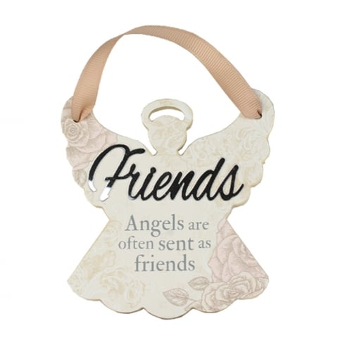 Reflective Words Friends Angel Hanger