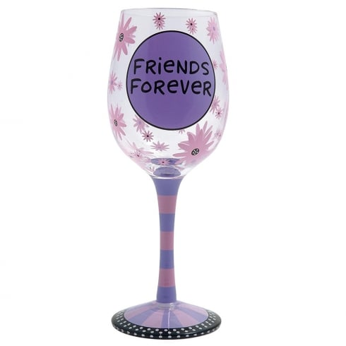 Our Name Is Mud Friends Forever Goblet Wine Glass