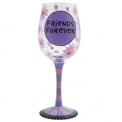 Friends Forever Goblet Wine Glass