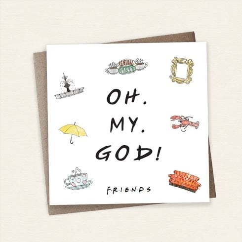 Cardology Friends TV Show OH MY GOD! Greeting Card