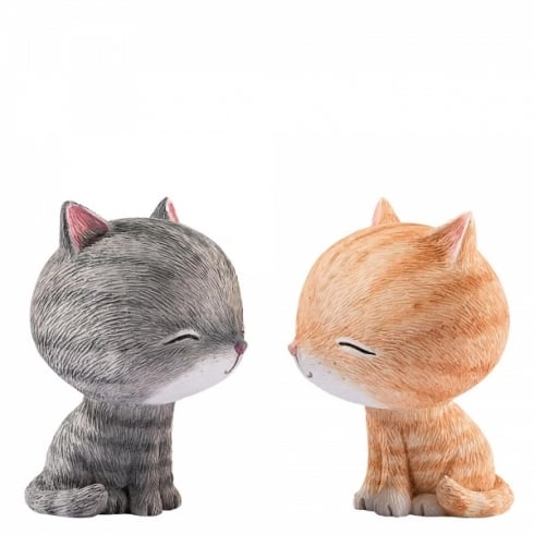 Little Meow Friendship Kiss Figurine