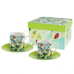 Frog Espresso Cup & Saucer (Set of 2)