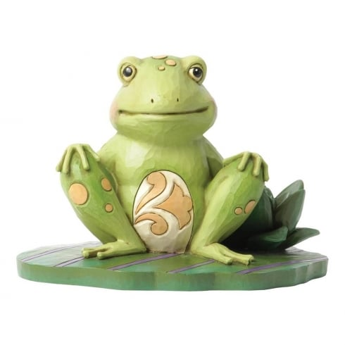 Jim Shore Heartwood Creek Frog On Lily Pad Figurine