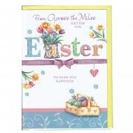 From Across The Miles Just For You Easter Greeting Card