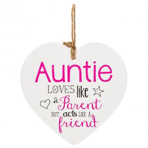 Shudehill Giftware From The Heart Plaque - Auntie
