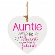 From The Heart Plaque - Auntie