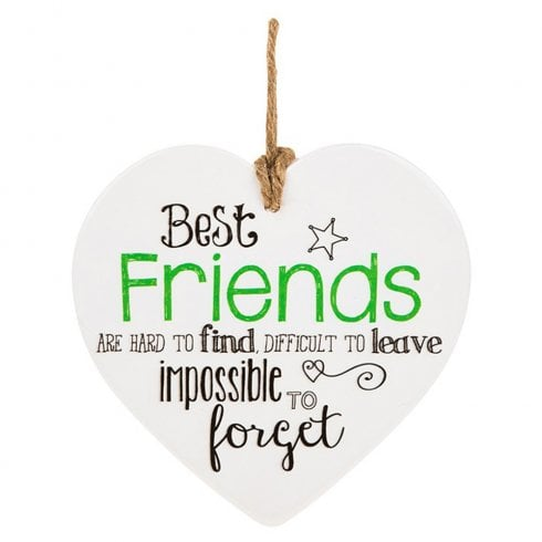 Shudehill Giftware From The Heart Plaque - Best Friends