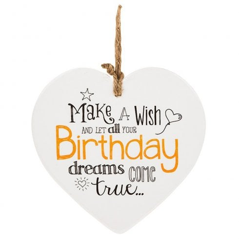 Shudehill Giftware From The Heart Plaque - Birthday