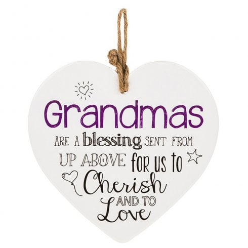 Shudehill Giftware From The Heart Plaque - Grandma