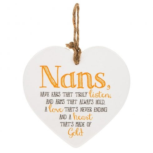 Shudehill Giftware From The Heart Plaque - Nan