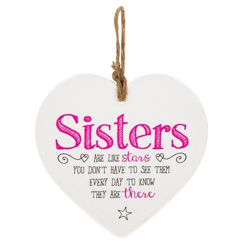 Shudehill Giftware From The Heart Plaque - Sisters