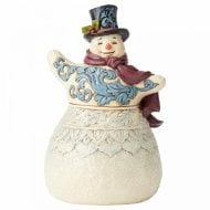 Frosty Formality Victorian Snowman with Top Hat Figurine