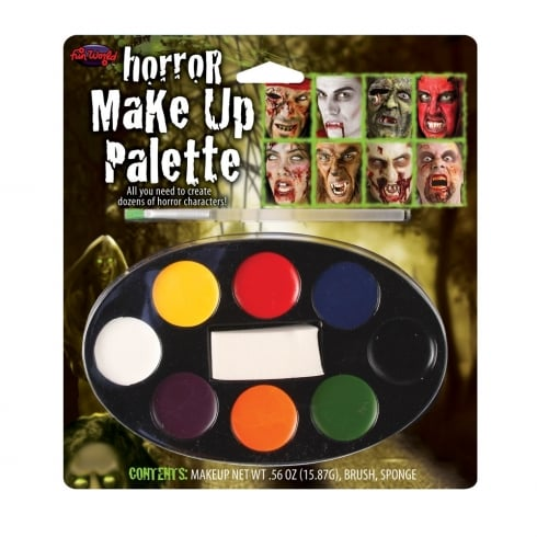 Wicked Costumes Fun World Horror Makeup Palette 8 Colour