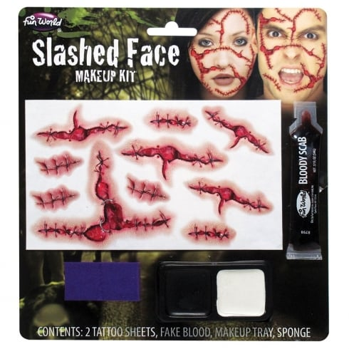Wicked Costumes Fun World Slashed Face Makeup Kit