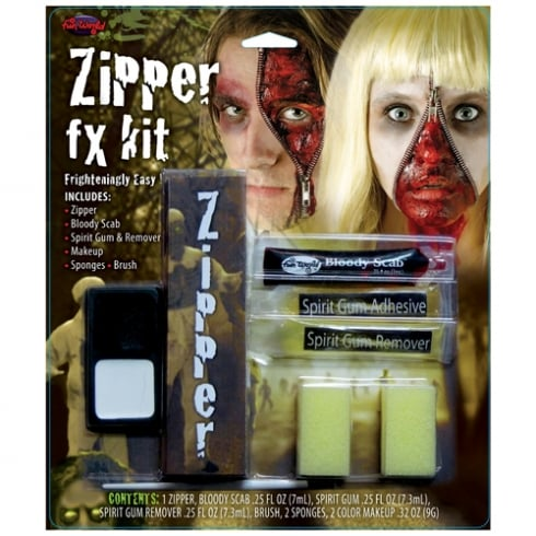 Wicked Costumes Fun World Zipper Face FX Kit