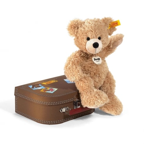 Steiff Fynn Bear In Suitcase Beige