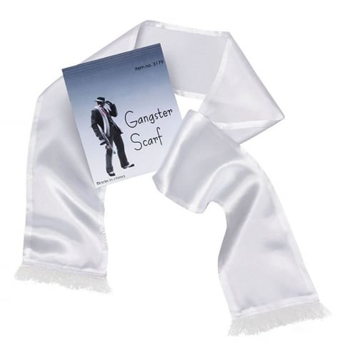Bristol Novelty Gangster / Hollywood Scarf White