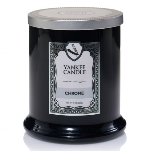 Yankee Candle Gentlemans Fragrance Barbershop Chrome Tumbler Candle