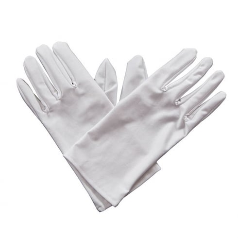 Wicked Costumes Gents Short Gloves - White