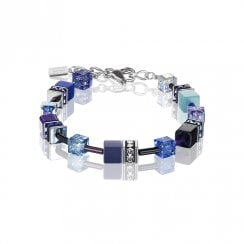 GeoCUBE Blue Purple Bracelet