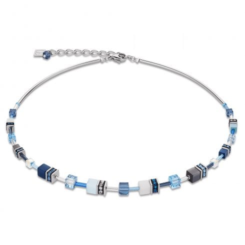 COEUR DE LION GeoCUBE Frontline Blue-Aqua Necklace