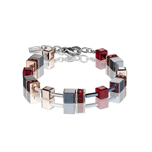COEUR DE LION GeoCUBE Red Bracelet