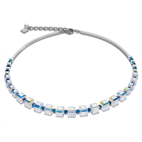 COEUR DE LION GeoCUBE Swarovski Blue Necklace