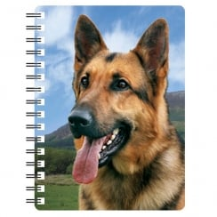 German Shepherd 1 3D Notebook