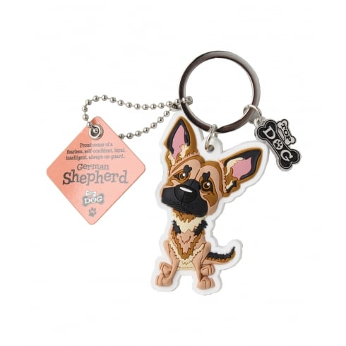 Wags & Whiskers German Shepherd Keyring